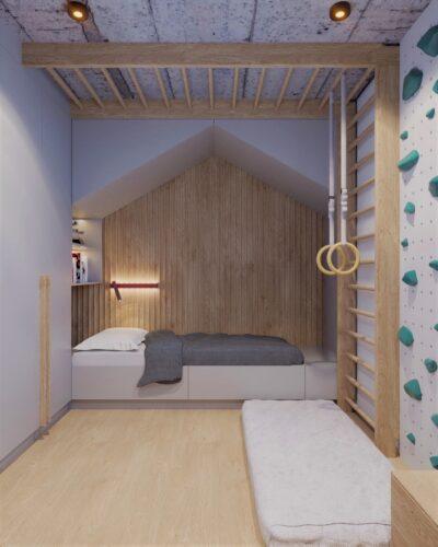 projekt wnętrza pokoju dla chłopca