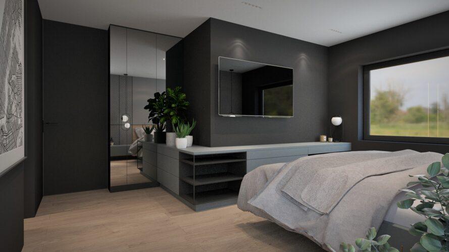 sypialnia - projekt wnętrz