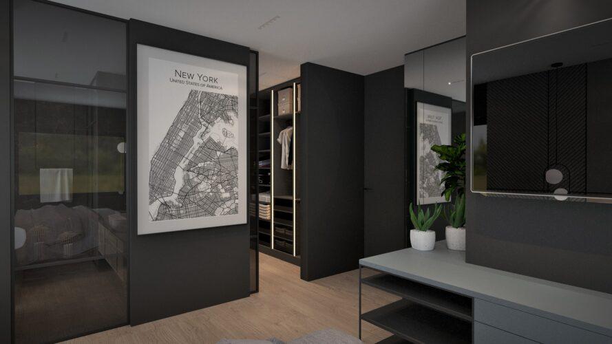 sypialnia - projektowanie wnętrz