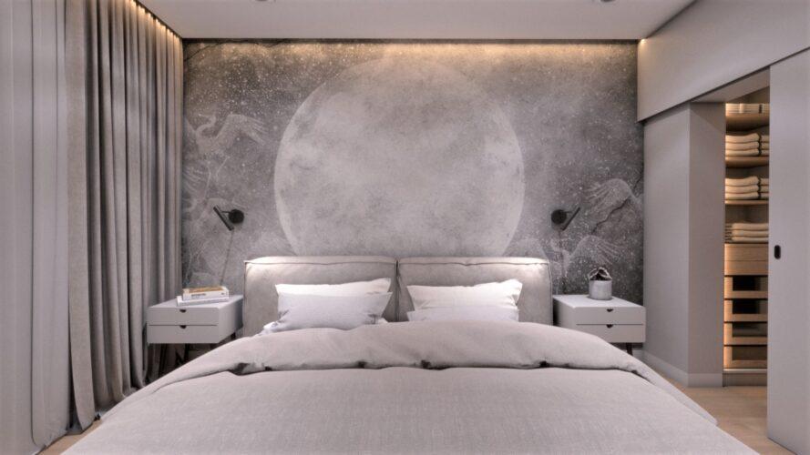 sypialnia projekt wnętrza