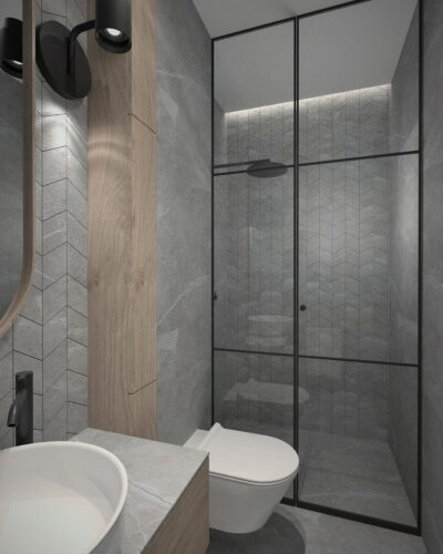 projektowanie wnętrz łazienka dla gości