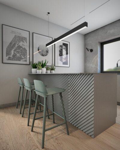 projekt wnętrz nowoczesnej kuchni